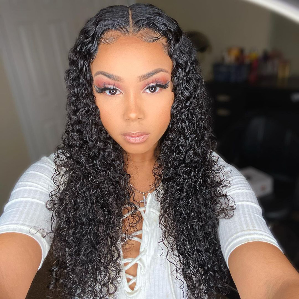 Curly HD Lace Closure Wigs