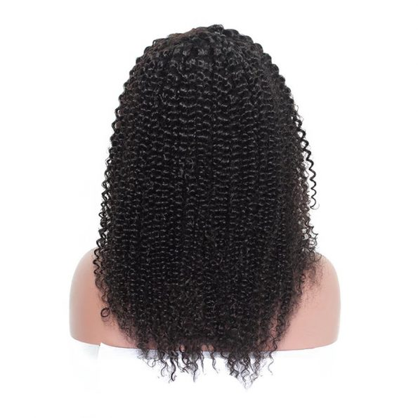 customized Kinky Curly Wig side part Lace Front