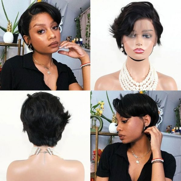 customized straight side part pixie 13×6 lace wig (5)