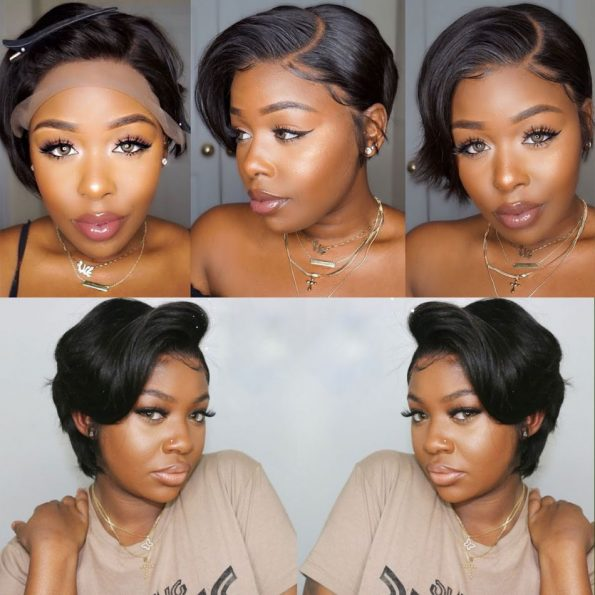 customized straight side part pixie 13×6 lace wig (6)