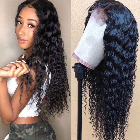 deep wave 4×4 lace wigs