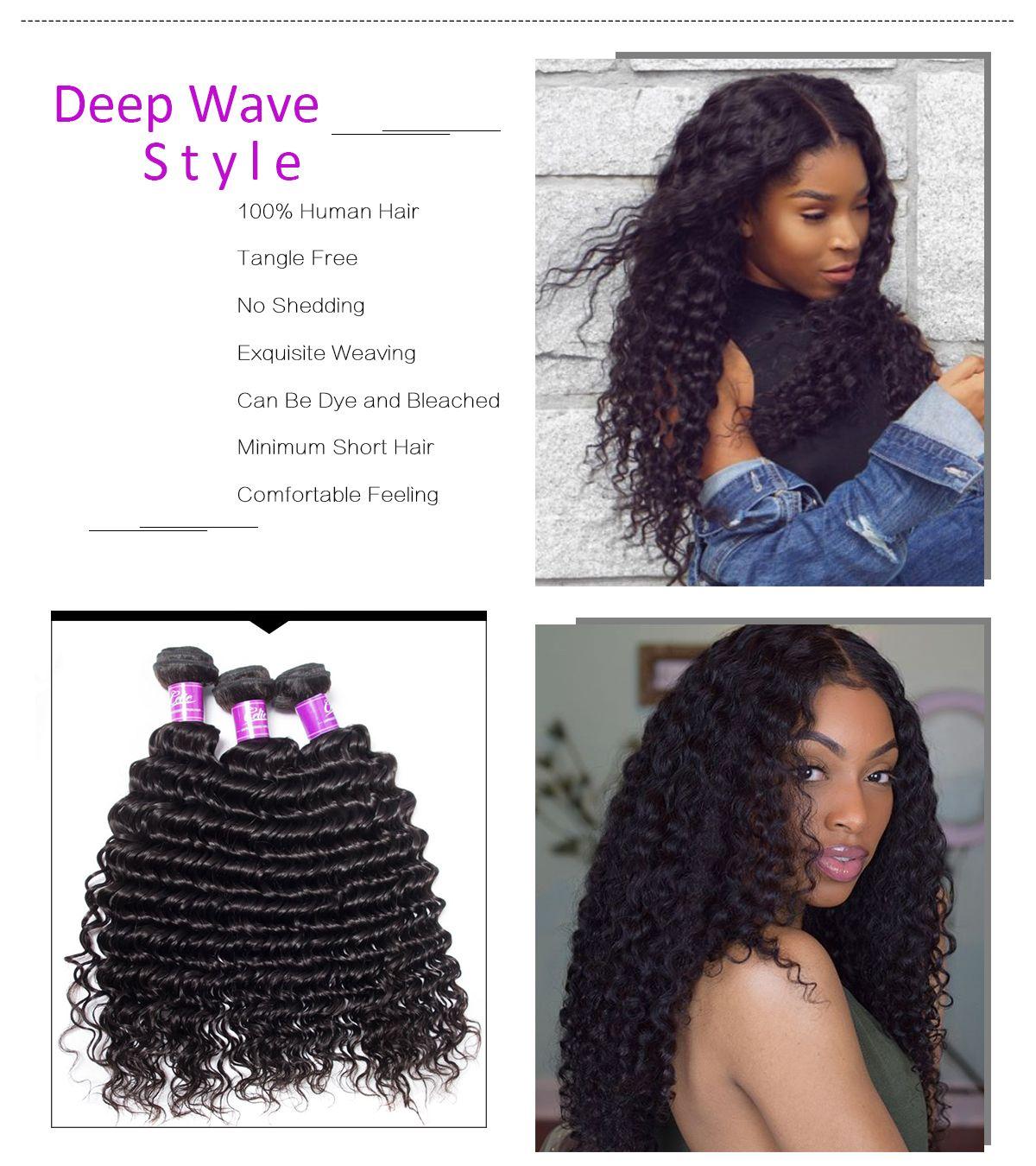 Deep Wave 4 Bundles With Closure