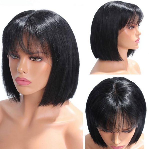 full lace straight bob wig with bangs (1)