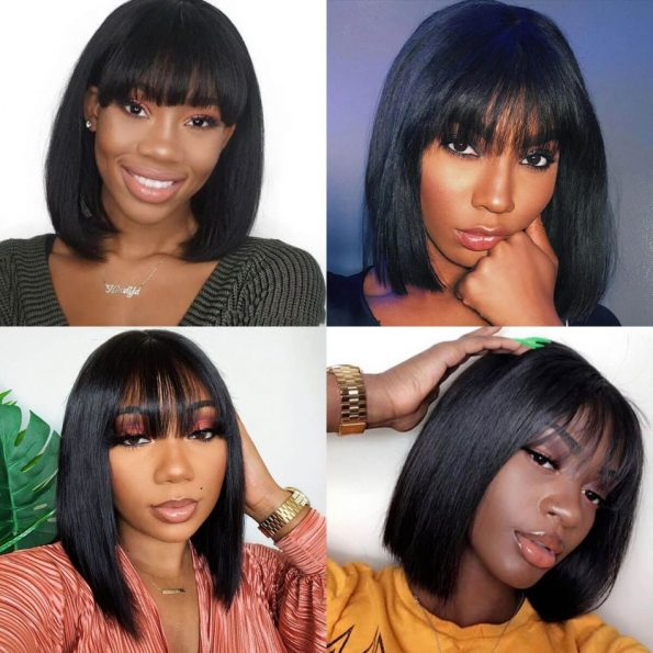 full lace straight bob wig with bangs (4)