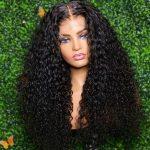 5×5 hd curly closure wig
