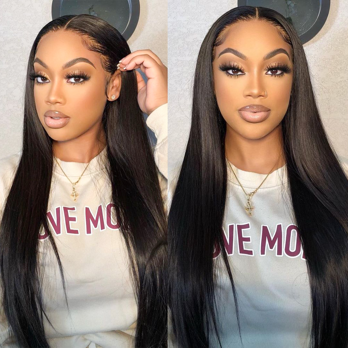 Straight HD Lace Front Wig