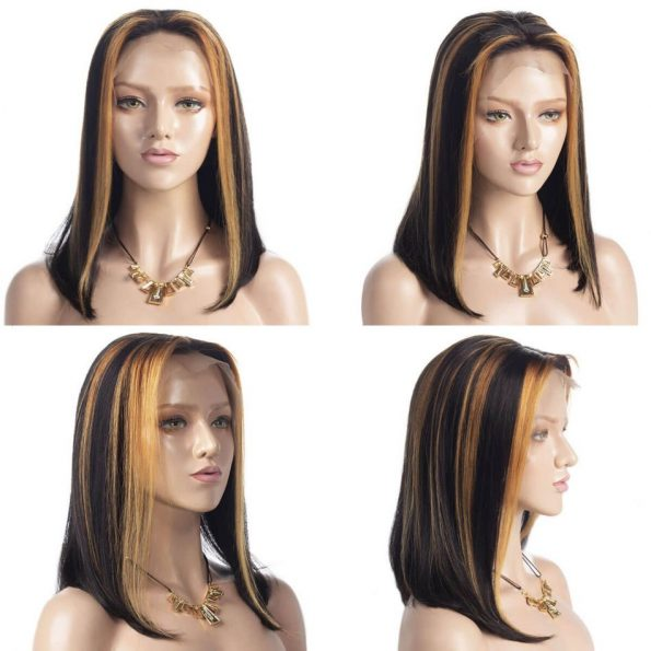 hightlight straight bob 13×4 lace front wig (2)