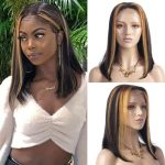 hightlight straight bob 13×4 lace front wig (1)
