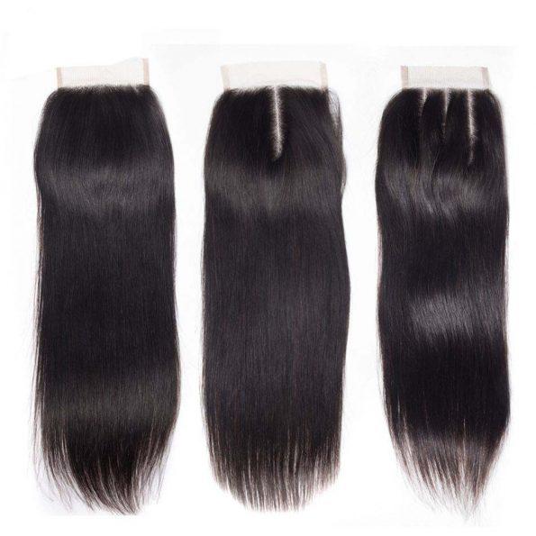 Peruvian Straight Hair 3 Bundles With Closure