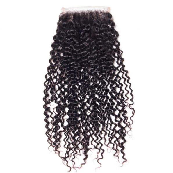 Kinky Curly 3 Bundles With Closure