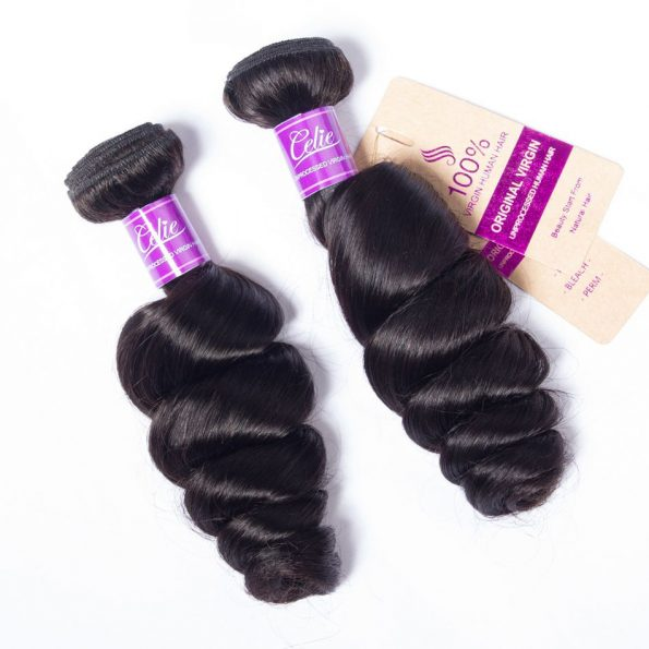 Loose Wave 4 Bundles With Frontal