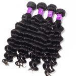 Loose Deep wave Hair 4 Bundles With 6×6 Lace Closure