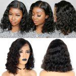 shor cut loose deep wave wig