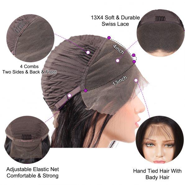 loose deep bob 13×4 lace front wig