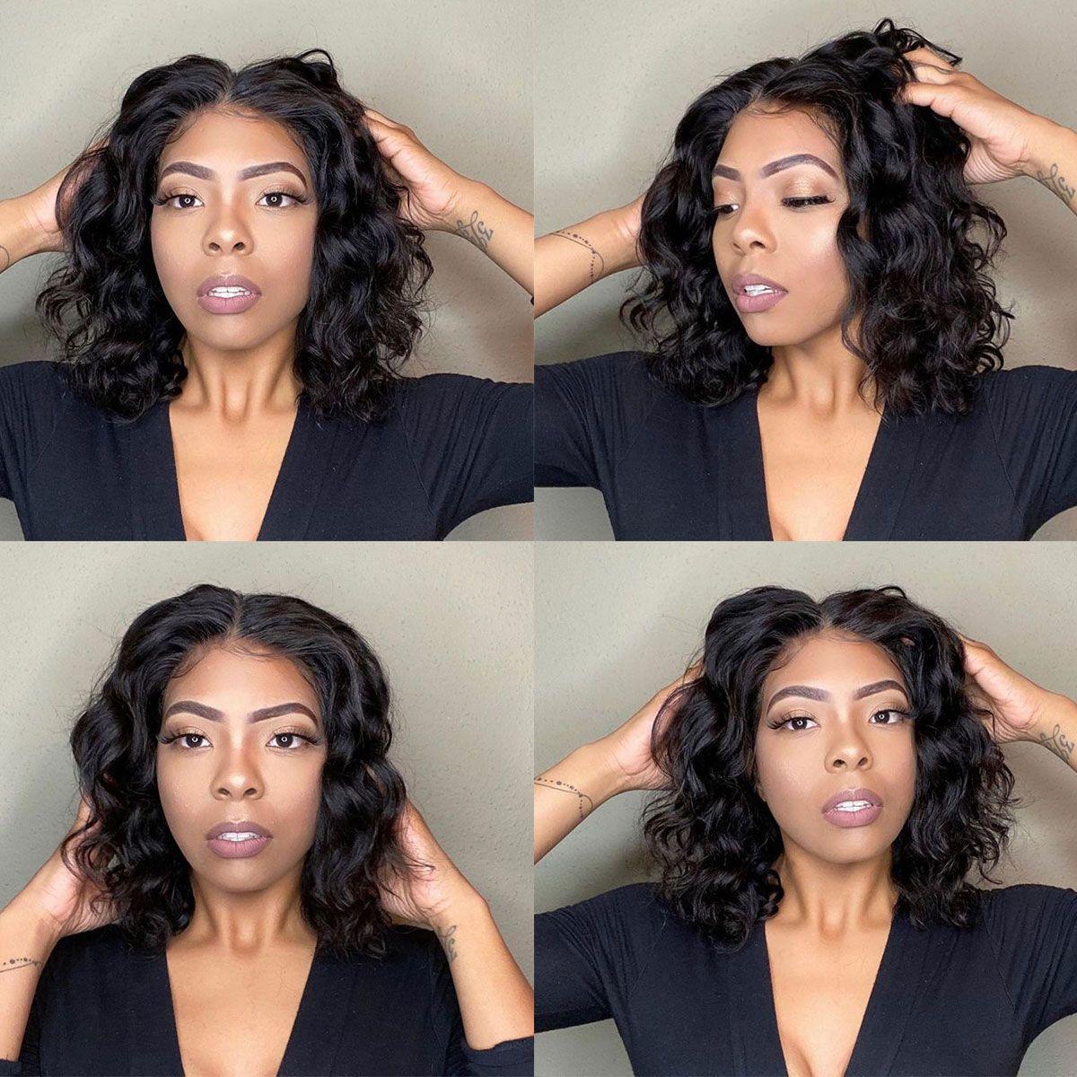 loose deep bob 13x4 lace front wig