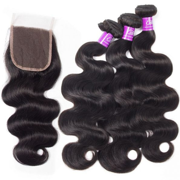 Body Wave Hair 3 Bundles With Closure