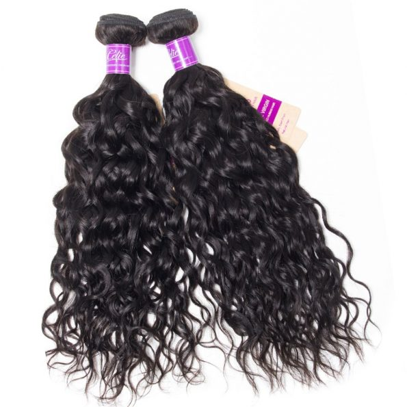 water wave Hair 3 Bundles With 6×6 Lace Closure