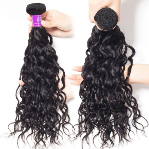 Water Wave 4 Bundles With Frontal