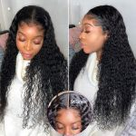 5×5 water wave lace front wig8172
