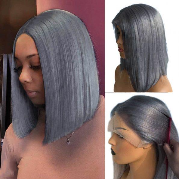 grey bob wig human hair (3)